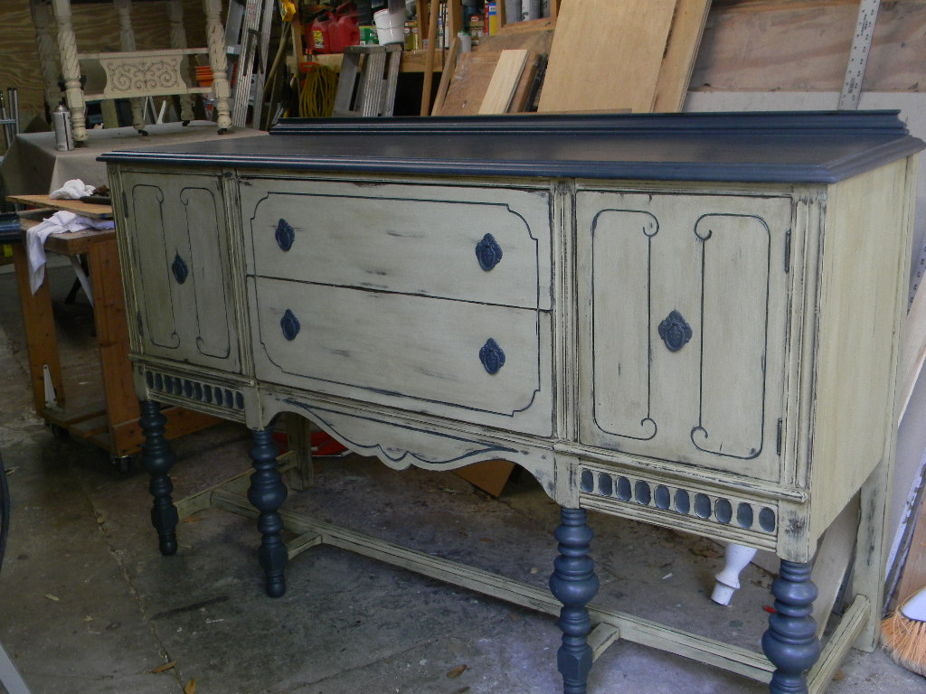 Painted buffet table furniture - This