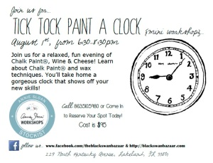 Tick Tock Paint A Clock Single